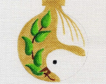 Dove Needlepoint Ornament in Gold - Jody Designs B113D
