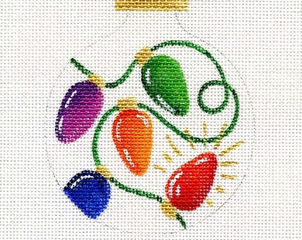 Christmas Lights Needlepoint Ornament - Jody Designs   B82