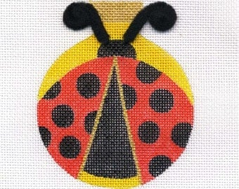 Ladybug Needlepoint Ornament   BL1  Bumble /Black dots - Jody Designs