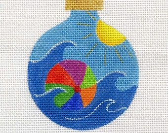 Beach Ball Needlepoint Ornament - Jody Designs         B117  Beach ball