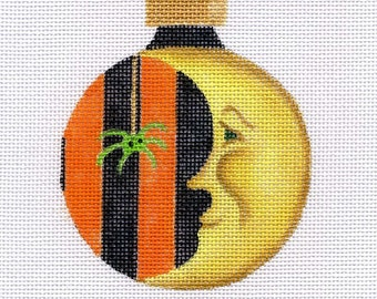Halloween Moon Needlepoint Ornament - Jody Designs B145