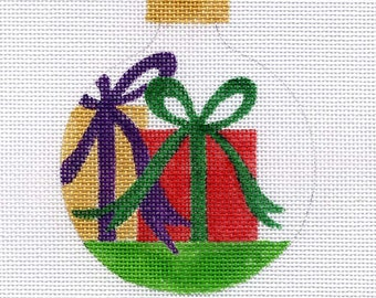 Presents with Bows Needlepoint Ornament - Jody Designs     B110