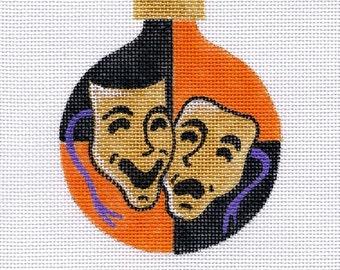 Halloween Masks Needlepoint Ornament - Jody Designs  B154