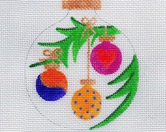 Three Little Ornaments Needlepoint Ornament - Jody Designs      B181