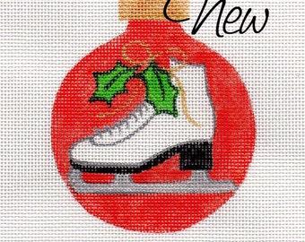 Ice Skate - Jody Designs Needlepoint Ornament - B199