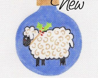 Blue Lamb Jody Designs Needlepoint Ornament      B203E