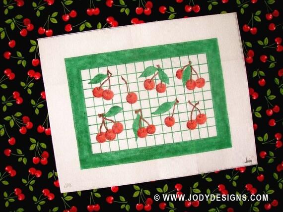 Cherry Needlepoint  - Jody Designs