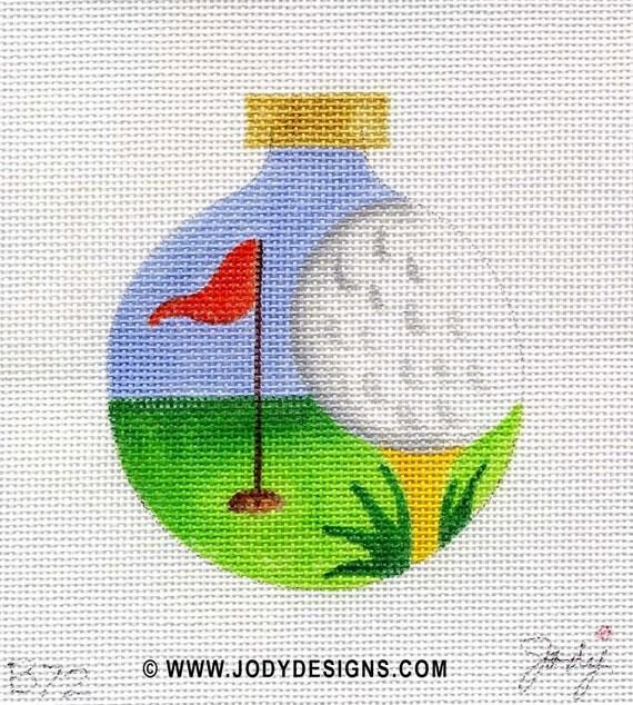 Golf Needlepoint Ornament   - Jody Designs     B72