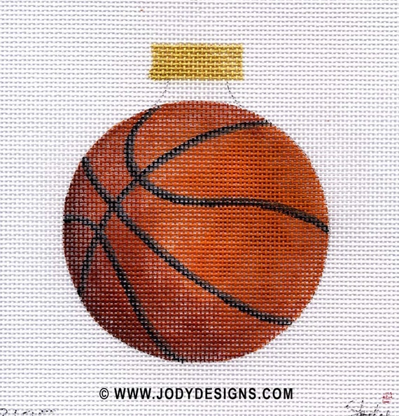 Basketball Needlepoint Ornament - Jody Designs   B135