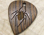 Custom Wood Guitar Pick - Handmade Exotic Wood - The Bocote Spider Premium Guitar Pick