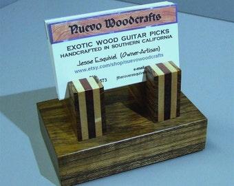 Wood Business Card Holder - Handmade Exotic Woods Premium Card Holder