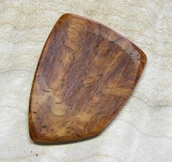 Wood Guitar Pick - Handmade Exotic Amboyna Burl Premium Guitar Pick