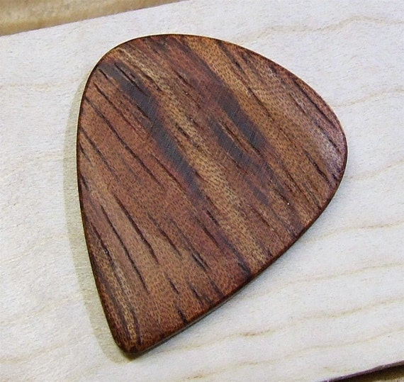 Wood Guitar Pick - Handmade Exotic African Bubinga Premium Guitar Pick