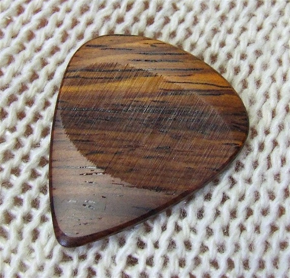 Wood Guitar Pick - Handmade Exotic Cocobolo Rosewood Premium Guitar Pick