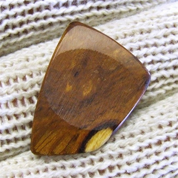 Wood Guitar Pick - Handmade Exotic Arizona Desert Ironwood Premium Guitar Pick