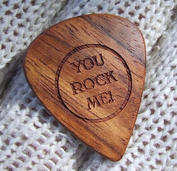 Amazon Rosewood Guitar Pick - Handmade Laser Engraved Premium Wood Guitar Pick