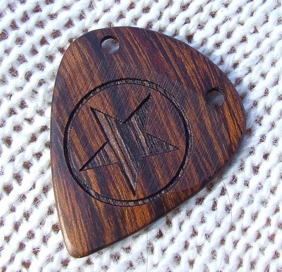 Handmade Exotic Arizona Desert Ironwood Premium Guitar Pick - Precision Laser Engraved