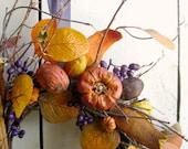 Halloween Wreath - Autumn Decor- Crisp Days Wreath - Autumn Wreath - Halloween Decor