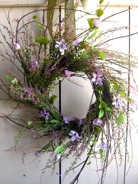 Wreath - Heather - Purple - Heather Meadow Wreath - Autumn Wreath - Country Decor