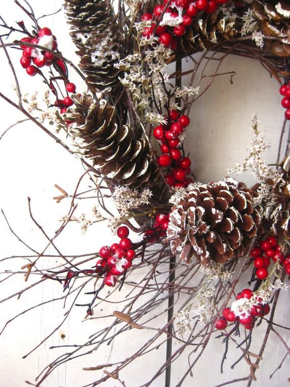 Nordic winter wreath scandinavian decor winter berry - Creer sa deco de noel ...