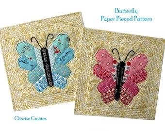 Butterfly Paper Pieced Pattern