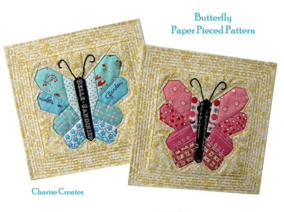 Butterfly Paper Pieced Pattern