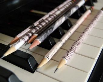 PERSONALIZED Pencils Gift for Musicians, Music Teachers - Piano - Music Lovers
