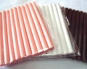 Opaque Pink OR White OR Brown Glue Sticks - A set of 10 sticks. (Choose your own combinations) Free gift  included.