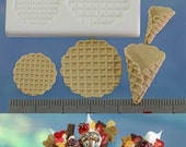 Miniature waffle cone mold. Roll your own waffle cones for ice-cream. Two sizes of cones in one mould
