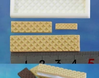 Miniature wafer mould/mold. Floree miniature food moulds/mold.