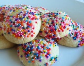 Reserved for holidayshoppet - Gluten Free And Dairy Free Italian Cookies With Sprinkles and Mexican Wedding Cookies (contains no chocolate)
