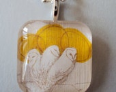 Pendant necklace, Owl, collaboration with Sovereign Sea Designs