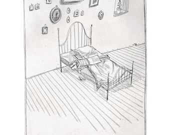 Illustration Print  'Bird' 5x7