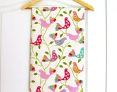 Thick cotton birds print  fabric large breadth