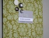 """Fabric Magnet Board (9"""" x 12"""") Henna Garden-Leaf"""