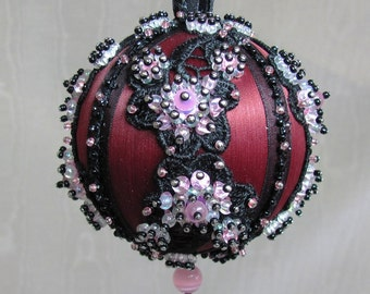 Beaded Christmas Ornament Kit - Plum Blossom