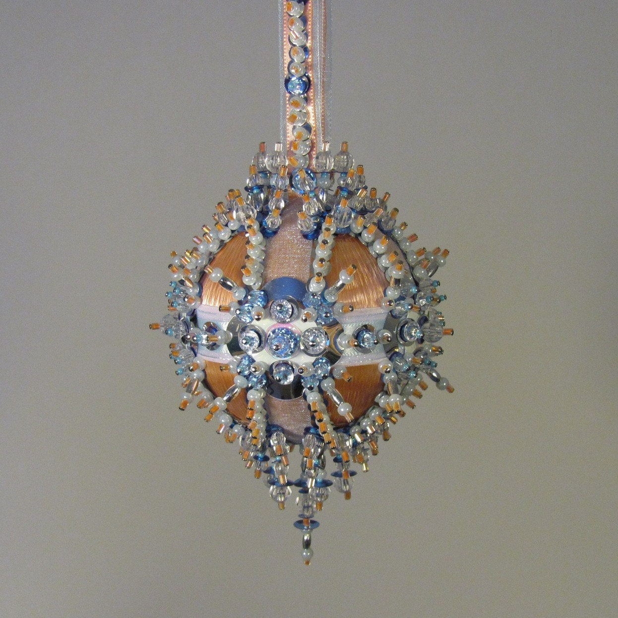 beaded ornament kit san diego sunset by glimmertree