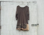 Reserved - a little oversized funky dress / eco dress / upcycled clothing / tattered dress / casual dress / boho mini dress