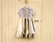 eco friendly spring dress - upcycled clothing / romantic Funky Earthy Mini Woodland Pixie Fairy Dress
