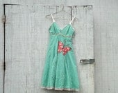 RESERVED - Spring Dress / A Vintage Butterfly Collection - 17 - Long Tattered Dress by CreoleSha