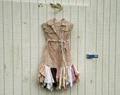 romantic dress / womans dress / Funky Floral Eco Tattered Fairy Woodland Pixie Mini Dress