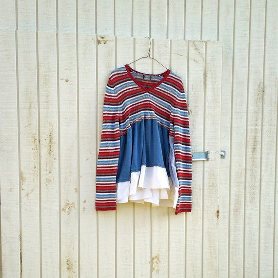 Funky Eco Romantic Baby Doll Sweater Dress / Frock / Shirt