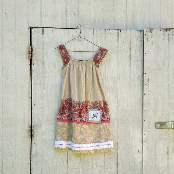 Funky Summer Dress / Eco Dress / Tattered Artsy Dress / Upcycled Clothing by CreoleSha