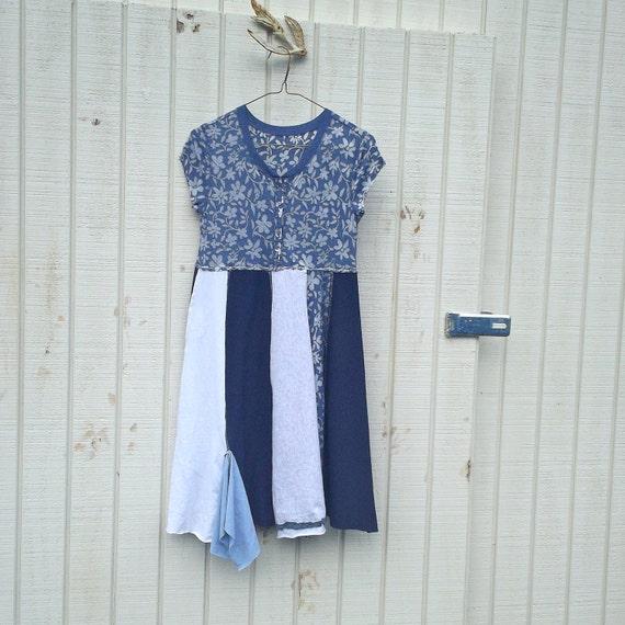 little funky Panel Dress by CreoleSha - upcycled clothing / women's clothing