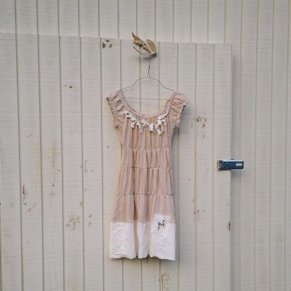 Funky Upcycled Dress / Eco Dress / Tattered Artsy Dress / Upcycled Clothing by CreoleSha
