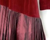 ON HOLD Vintage CHLOE velvet and taffeta dress