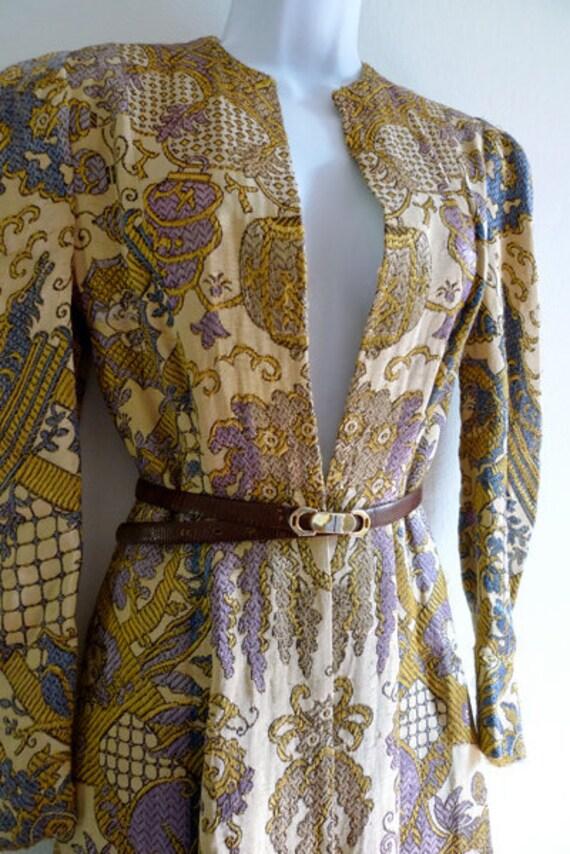 70s beautiful brocade coat