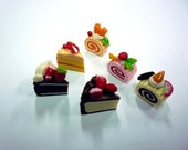 Mini Slice cake and Roll cake, set of 6 pieces