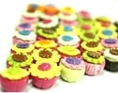 Miniature Polymer Clay Food for Dollhouse and Jewelry Fancy Cupcakes10 pieces