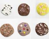 Miniature Cookies Polymer Clay Beads for Beaded Jewelry Supplies 12 pcs
